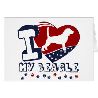 Beagle Tarjeta Pequeña
