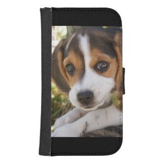 Beagles del perrito cartera para teléfono