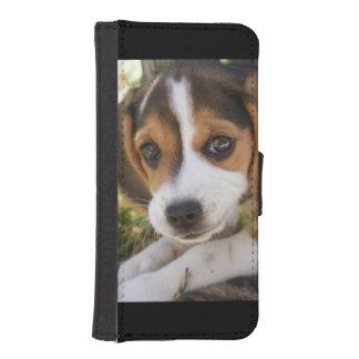 Beagles del perrito funda tipo cartera para iPhone 5