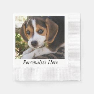 Beagles del perrito servilletas de papel