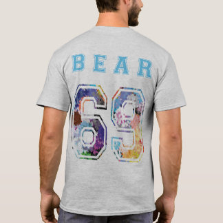 bear 6 9 flores azul espalda camiseta