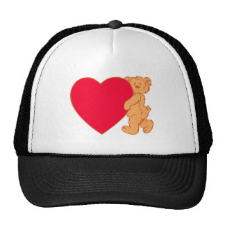 Bear osito de peluche corazón teddy heart gorra