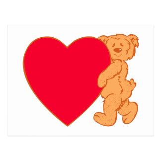 Bear osito de peluche corazón teddy heart postal