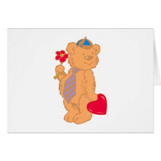 Bear osito de peluche corazón teddy heart tarjeton