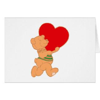 Bear osito de peluche corazón teddy heart felicitacion