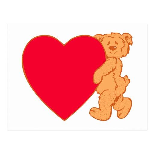 Bear osito de peluche corazón teddy heart postales