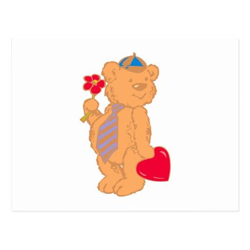 Bear osito de peluche corazón teddy heart tarjeta postal