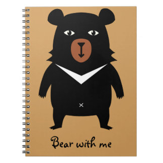 """Bear with me"" Notepad Cuadernos"