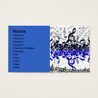 Beat_ de la música tarjeta de negocios