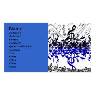 Beat_ de la música tarjetas de visita