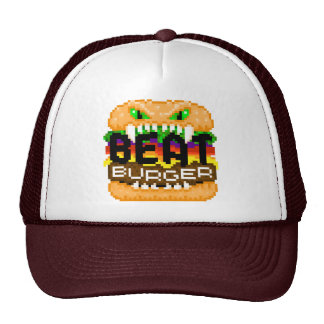 Beatburger muerde el casquillo trasero del logotip gorra