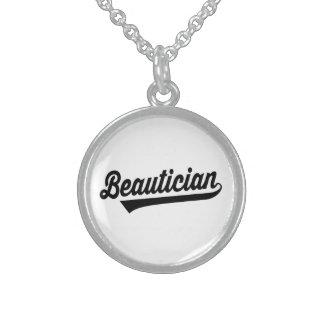 Beautician Collar De Plata De Ley
