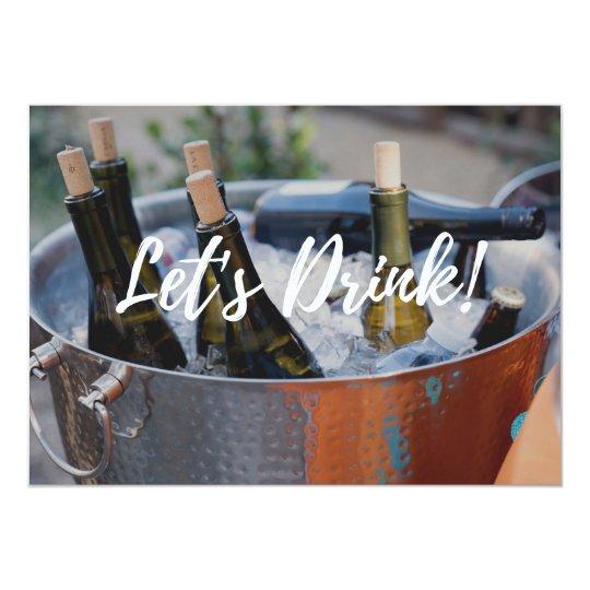 ¡Bebamos! invitación adulta del fiesta