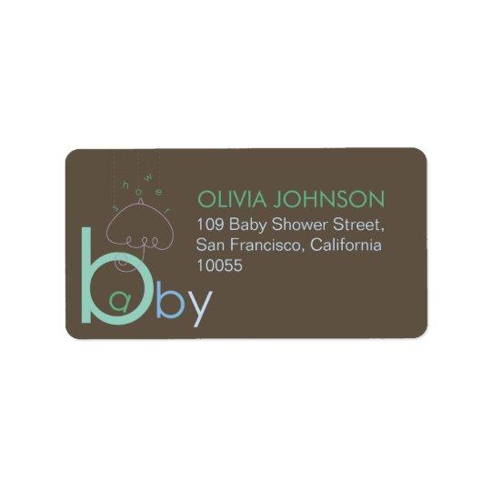"""Bebé """"a"""" en etiquetas lindas azules de la fiesta etiquetas de dirección"""