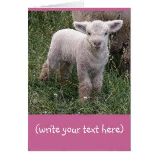 Bebé adorable tarjeta de felicitación