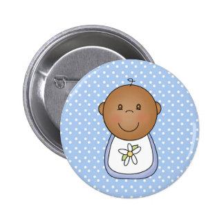 Bebé afroamericano chapa redonda 5 cm