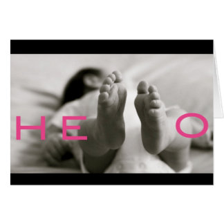 ¡bebé agradable! tarjeta de felicitación