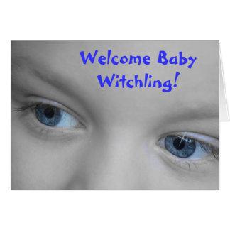 Bebé agradable Witchling - nueva tarjeta del bebé