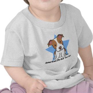 Bebé americano de Terrier de pitbull de la Camisetas