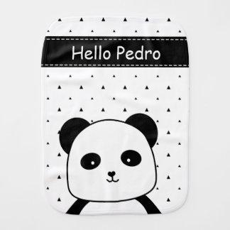 Bebé blanco y negro del monocromo de la panda paños para bebé