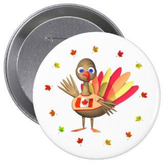 Bebé canadiense Turquía de la acción de gracias Chapa Redonda 10 Cm