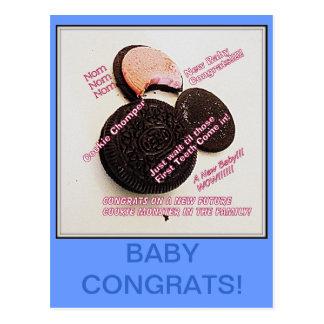 ¡Bebé Congrats para el comedor futuro de la gallet Postales