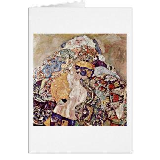 Bebé (cuna) por Gustavo Klimt Tarjeta