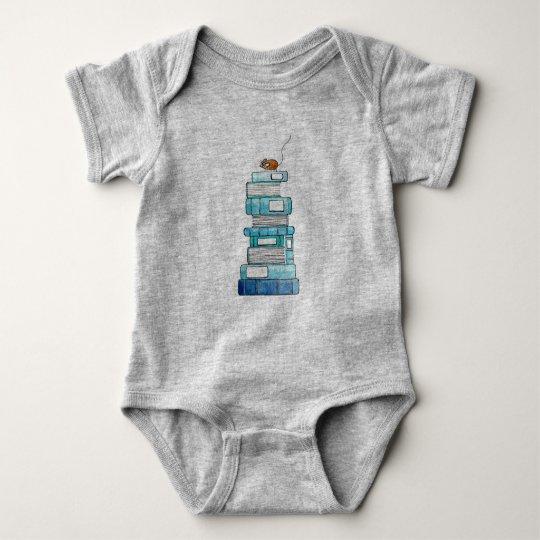 Bebé de Bookstack de una sola pieza Body Para Bebé