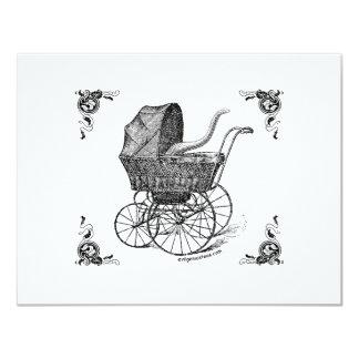 Bebé de Cthulhu del Victorian de Steampunk Invitación 10,8 X 13,9 Cm