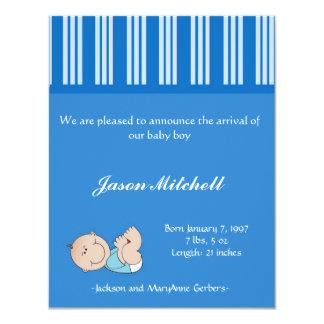 Bebé de la invitación del nacimiento invitación 10,8 x 13,9 cm