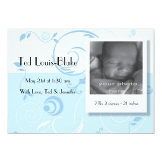 Bebé de la invitación del nacimiento