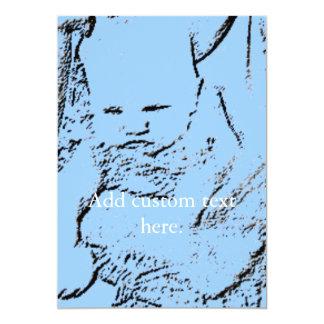 Bebé de la mochila invitación 12,7 x 17,8 cm