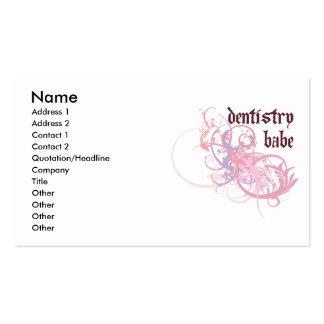 Bebé de la odontología tarjeta personal