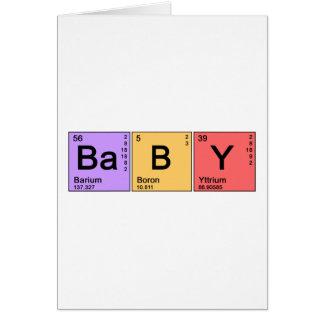 Bebé de la química felicitaciones