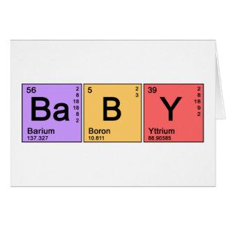 Bebé de la química tarjetas