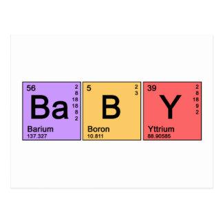 Bebé de la química tarjeta postal
