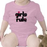 Bebé de la regla de los chicas camisetas