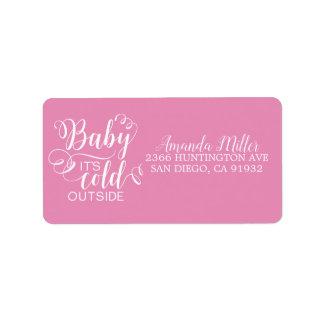Bebé de los chicas es etiqueta de dirección