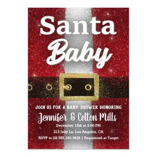 Bebé de Santa - invitación del encanto del