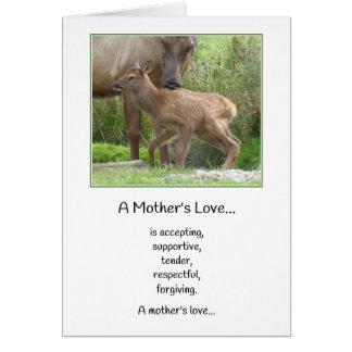 Bebé del amor de madre un nuevo… tarjeta de felicitación