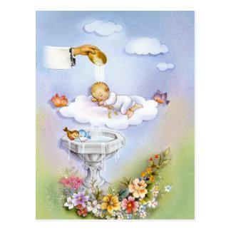 Bebé del bautizo del bautismo postal
