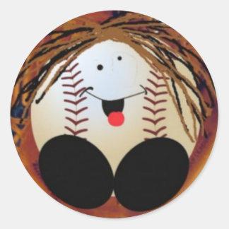 Bebé del béisbol pegatina redonda