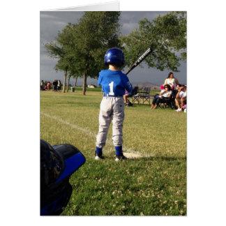 Bebé del béisbol tarjeta de felicitación