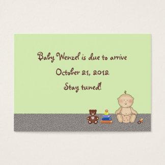 Bebé del carro de bebé tarjeta de visita