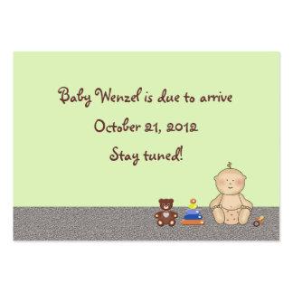 Bebé del carro de bebé tarjetas de visita grandes