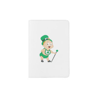 Bebé del día del St Patricks Porta Pasaportes