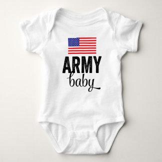 Bebé del ejército con la bandera de los E.E.U.U. Body Para Bebé