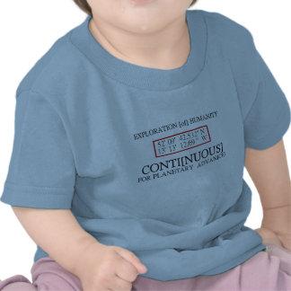 Bebé del friki de la ciencia del UFO con el mensaj Camiseta