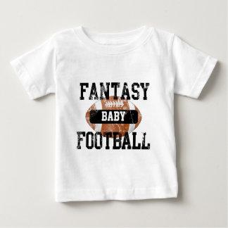 Bebé del fútbol de la fantasía camiseta de bebé