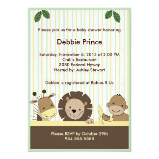 Bebé del parque zoológico/invitación de la fiesta invitación 12,7 x 17,8 cm